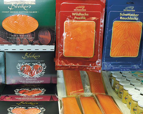 Fisch-Einkauf Rauchlachs