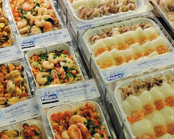 Fisch-Einkauf Tiefkühlprodukte