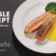 Single Rezept Frischlachs mit Safransauce