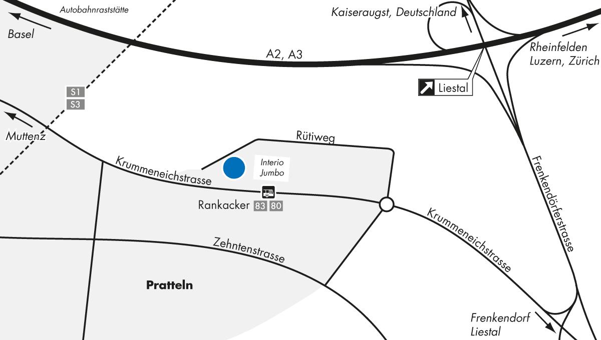 Karte Pratteln