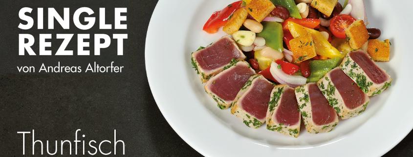 Thunfisch mit Brotsalat
