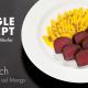 Thunfisch im Nori Blatt auf Mango