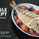 Sill Snapper auf Tomaten-Gemüsebett