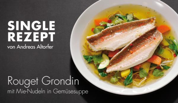 Rezept Rouget Grondin in Gemüsesuppe