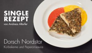 Rezept: Dorsch Nordstar Kürbiskerne und Peperonisauce
