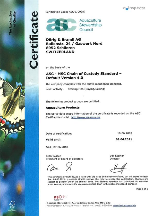 ASC Certificate